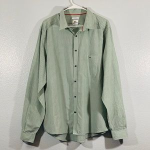 Lacoste Modern Fit Pinstriped Button Down Shirt 45